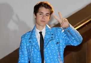Justin Bieber no NRJ Music Awards, em Cannes, na França (Foto: AFP/ Agência)