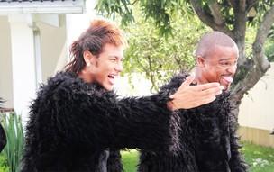 Neymar e Alexandre Pires (Foto: Divulgação)