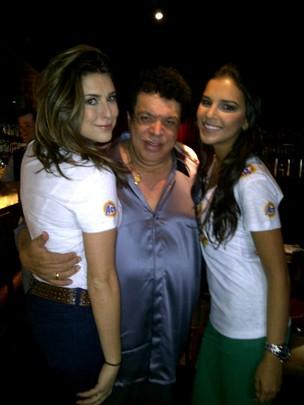 Fernanda Paes Leme, Wando e Mariana Rios (Foto: Twitter/Reprodução)
