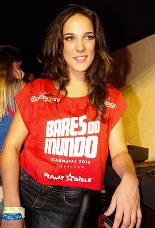 Adriana Birolli no camarote do carnaval de São Paulo (Foto: Amauri Nehn / AgNews)