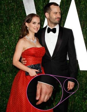 Natalie Portman e o marido no Oscar (Foto: Reuters)