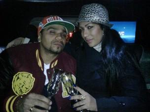 Naldo e Mulher Moranguinho andam de limousine em NY (Foto: Divulgação)