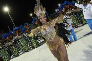 Quitéria Chagas foi rainha de bateria de uma escola de San Luis (Foto: Isac Luz/EGO)