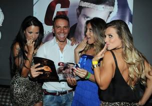 Ariadna, Lia Khey e Luana Don no lançamento da 'G Magazine' com Matheus Mazzafera em São Paulo (Foto: Francisco Cepeda/ Ag.News)