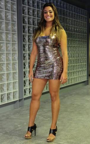 Monique, do 'BBB 12', após ser eliminada do programa (Foto: Roberto Teixeira/ EGO)