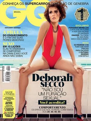 Deborah Secco na capa da edição de aniversário da revista 'GQ Brasil' (Foto: Reprodução)
