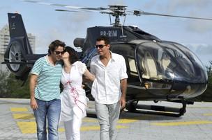 Bruno Mazzeo, Malga Di Paula e Nizo Neto (Foto: Alex Carvalho/TV GLOBO)