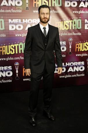 Gabriel Braga Nunes na gravação de 'Os Melhores do Ano' do Domingão do Faustão (Foto: Felipe Assumpção / AgNews)