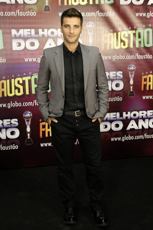 Bruno Gagliasso na gravação de 'Os Melhores do Ano' do Domingão do Faustão (Foto: Felipe Assumpção / AgNews)