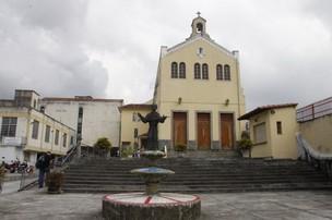 Igreja onde foi realizada a missa de sétimo dia da morte de Chico Anysio (Foto: Philippe Lima / AgNews)