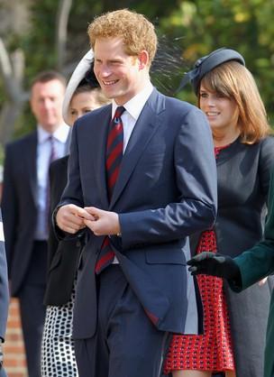 Príncipe Harry em missa da Família Real (Foto: Reuters)