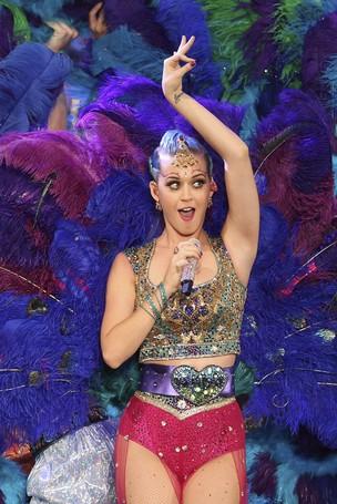 Katy Perry se apresenta em Chennai, na Índia (Foto: AFP/ Agência)