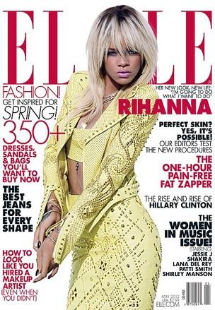 Rihanna na capa da Elle (Foto: Repdrodução)