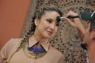 Claudia Leitte nos bastidores do 'Superbonita' (Foto: Alexandre Campbell/ Divulgação)