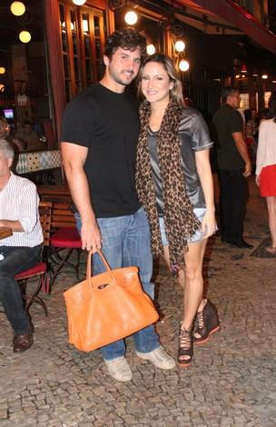 Claudia Leitte e o marido, Márcio (Foto: Fausto Candelária/Ag. News)