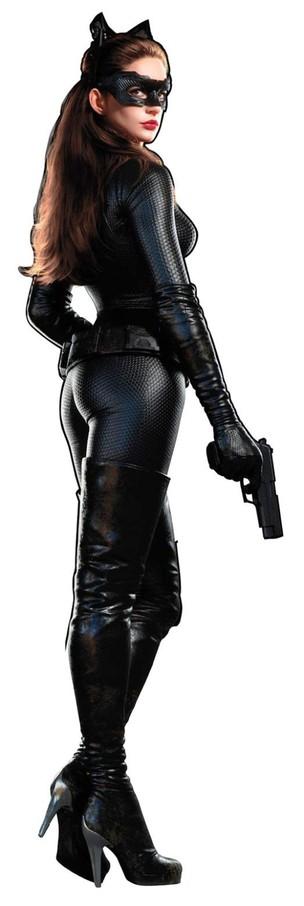 Anne Hathaway como 'mulher-gato' em nova imagem de divulgação (Foto: Divulgação / Divulgação)