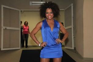 Adriana Bombom em show de Roberto Carlos no Rio (Foto: Roberto Filho/ Ag.News)