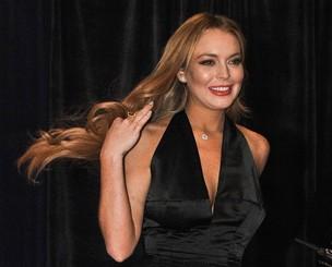 Lindsay Lohan em jantar na Casa Branca (Foto: Agência/AFP)