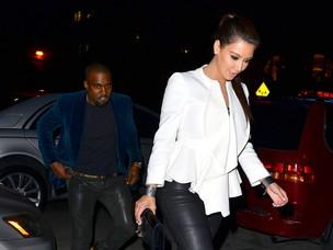 Kanye West e Kim Kardashian (Foto: Agência/Getty Images)