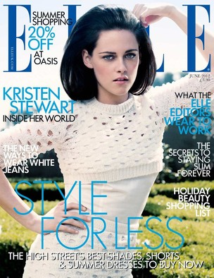 Kristen Stewart na edição de junho da 'Elle' inglesa (Foto: Elle UK)