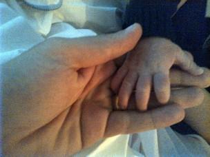 Marido de Wanessa, Marcus Buaiz, com o filho José Marcus (Foto: Twitter/ Reprodução)