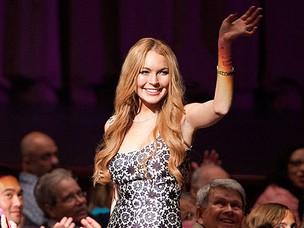 Lindsay Lohan no GLEE (Foto: FOX/Divulgação)