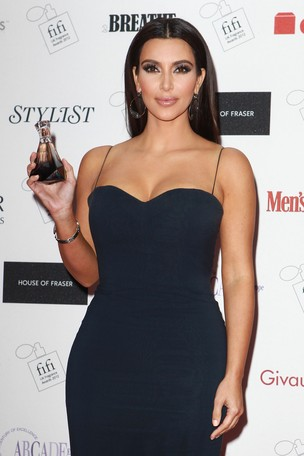 Kim Kardashian em evento em Londres, na Inglaterra (Foto: Getty Images/ Ag&#234;ncia)