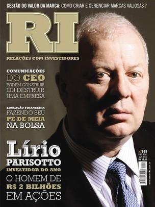 Lírio Parissoto na revista Relações com Investidores (Foto: Reprodução)
