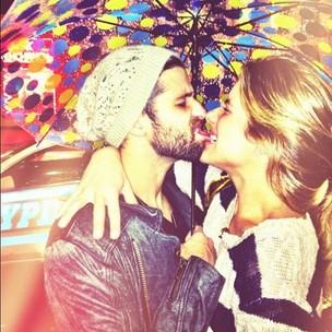 Bruno Gagliasso e Giovanna Ewbank em Nova York, nos EUA (Foto: Twitter/ Reprodução)