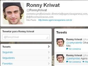 Reprodução do Twitter de Ronny Kriwat (Foto: Reprodução/Reprodução)