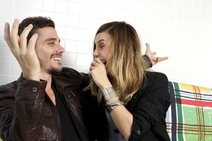 Luca Bianchi e Lívia Bueno (Foto: Isac luz / EGO)