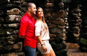 Diogo Nogueira e Milena posam para o EGO (Foto: Marcos Serra Lima/EGO)