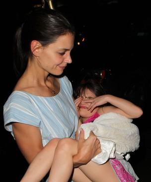 Katie Holmes e Suri Cruise X17 (Foto: Agência X17)