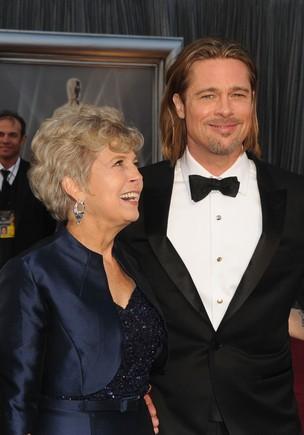 Jane e Brad Pitt no Oscar 2012 (Foto: Getty Images)