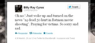 Billy Ray Cyrus posta no Twitter sobre acidente nos EUA (Foto: Twitter / Reprodução)