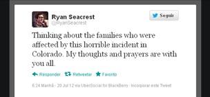 Ryan Seacrest posta no Twitter sobre acidente nos EUA (Foto: Twitter / Reprodução)