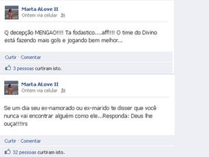 Marta Love no Face (Foto: Reprodução/Facebook)