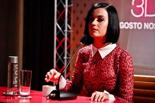 Katy Perry em coletiva no Rio (Foto: Divulgação)