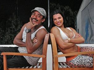 Compadre Washington e Juliane Almeida (Foto: Fernando Schlaepfer / EGO)