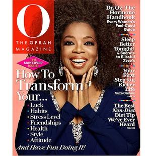 Oprah Winfrey com o cabelo black power na capa de sua revista (Foto: Divulgação)