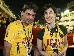 Andrucha Waddington e Fernanda Torres carnaval 2010 (Foto: Cleomir Tavares/Divulgação)