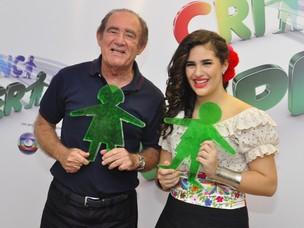 Renato Aragao e Livia Aragao no Criança Esperança (Foto: Roberto Teixeira/EGO)