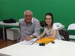 Sandy e Antônio Fagundes (Foto: Divulgação)