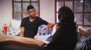 Usher conversa com Oprah (Foto: YouTube / Reprodução)