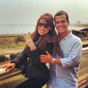 Karina Marthin e Leonardo Conrado (Foto: Reprodução/Facebook)