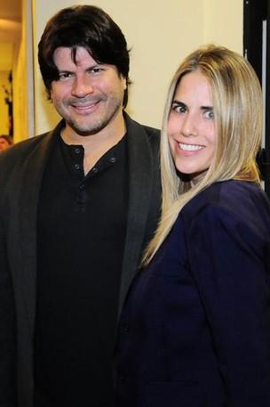 Paulo Ricardo e a mulher, Gabriela (Foto: Francisco Cepeda/Agnews)
