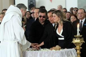 Padre Marcelo Rossi, Marcelo Camargo, Cláudio Pessutti e sua mulher Helena (Foto: Rogério Lacanna/ EGO)