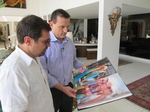Marcello Camargo, filho da Hebe, e Roberto Cabrini (Foto: Divulgação/SBT )