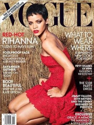 Rihanna na capa da Vogue de novembro (Foto: Divulgação / Vogue)