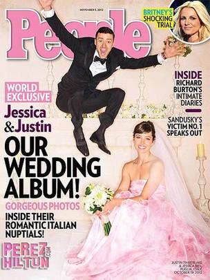 Capa da People com o casamento de Justin Timberlake e Jessica Biel (Foto: Reprodução)